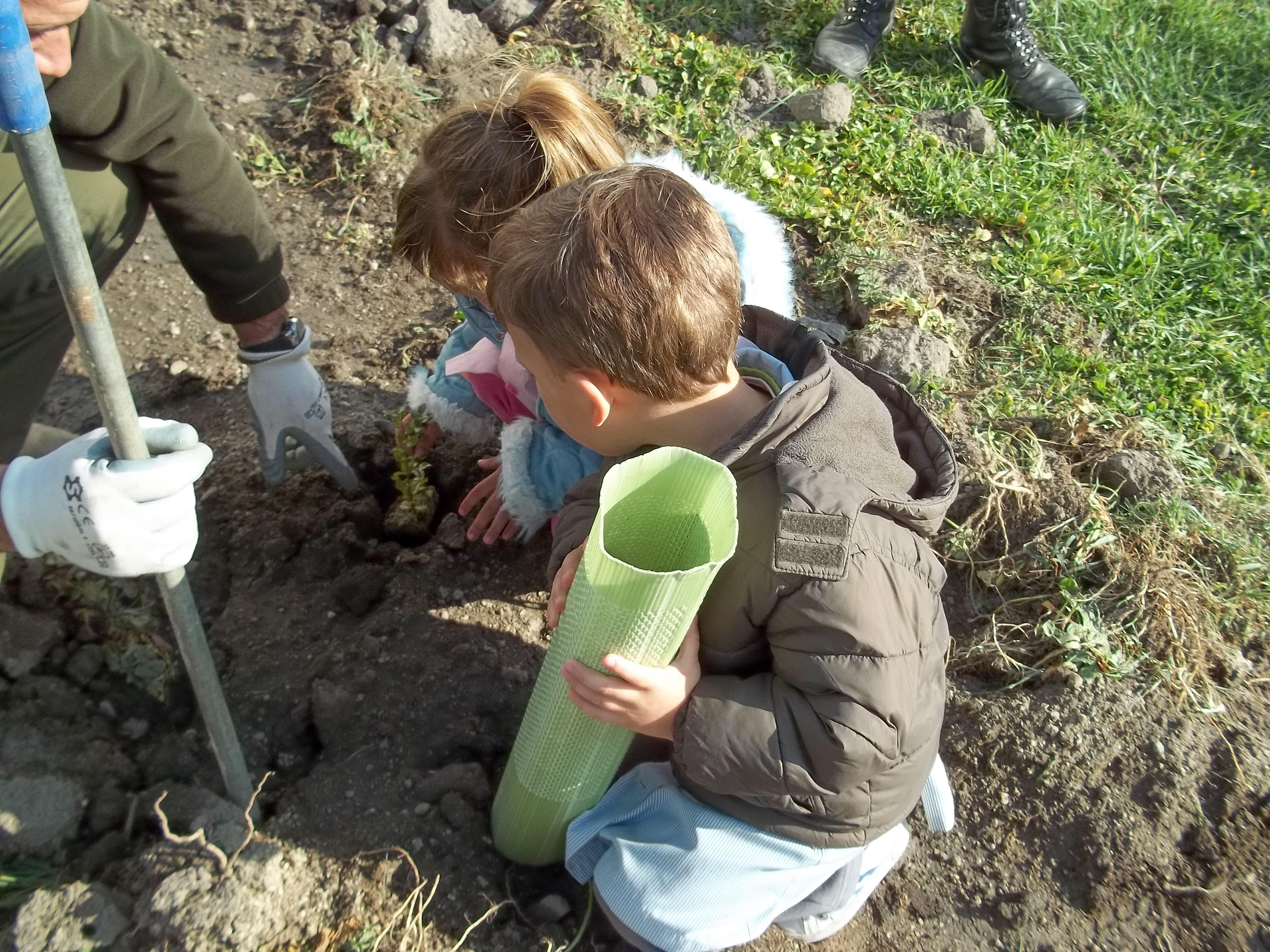 94 niños celebran el día del Árbol y aprenden a ahorrar agua