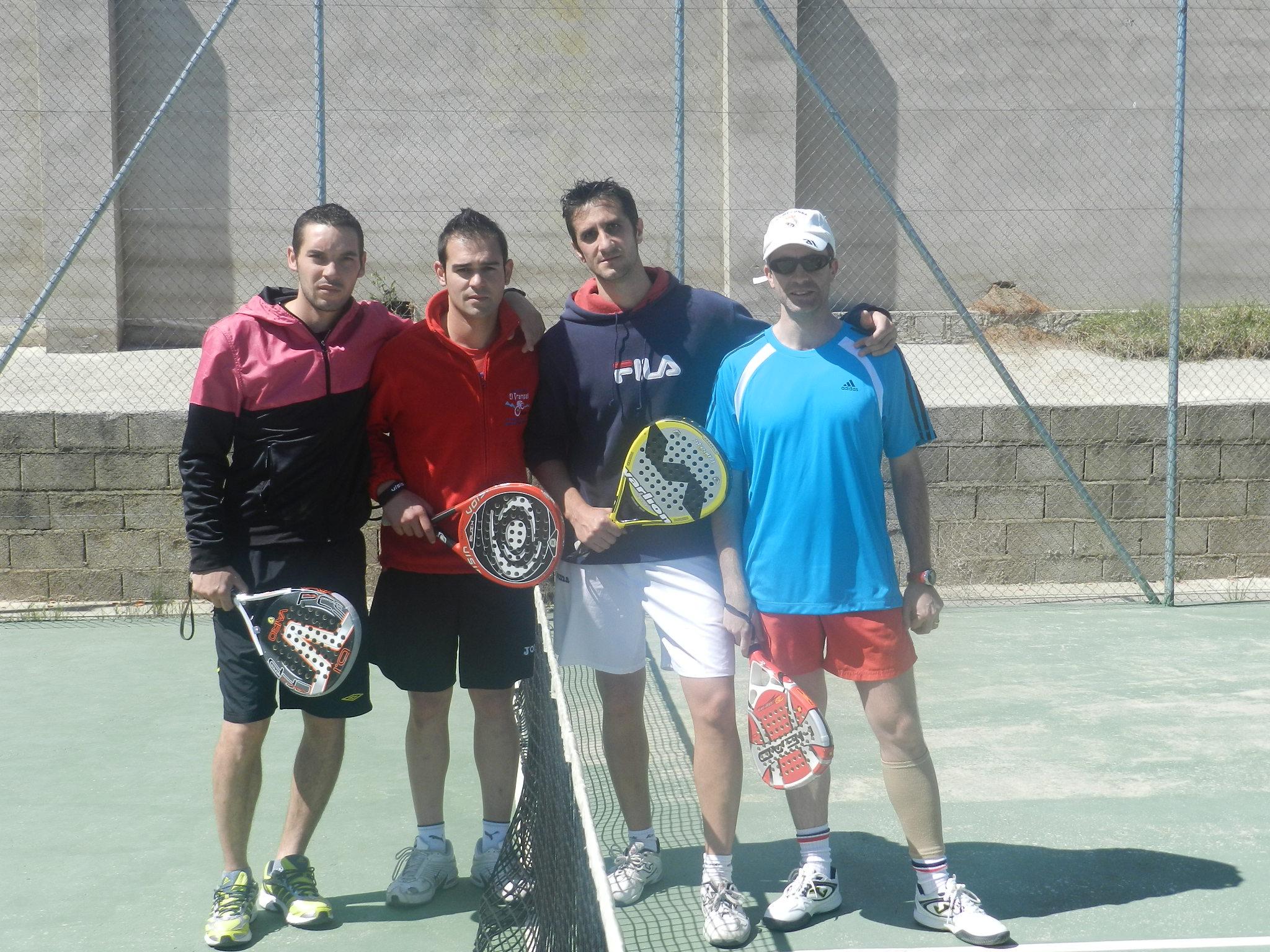 Los hermanos Rubén y Eduardo Quintero, ganadores del I Trofeo de Padel en Arroyo