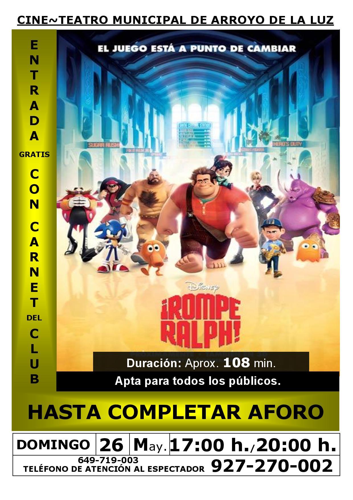 Nueva programación para el Cine en Arroyo de la Luz