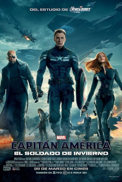 Mañana domingo en el cine se proyectará el filme 'Capitán América: El soldado de invierno'